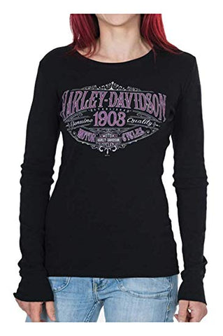 B30298429 H-D Women's Embellished H-D Spellbound Long Sleeve Shirt