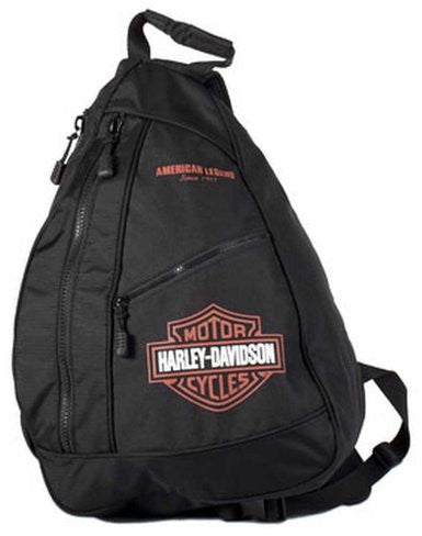 BP1957S-ORGBLK H-D Bar & Shield Sling Backpack