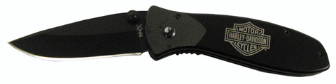 52081  H-D® Black Tags-L Pocket Knife
