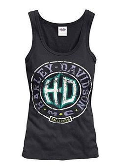 96355-15VW H-D® Womens HDMC Motors Black Sleeveless Tank