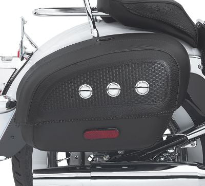 53015-05B H-D® Locking Rigid Saddlebags for Softail Deluxe Models