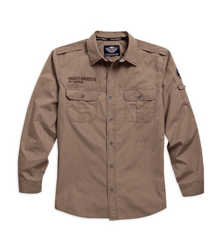 96018-16VM  H-D® Mens Enzyme Washed LS Woven Shirt