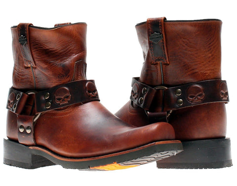 D93259 H-D Thornton Brown Men's Motorcycle Riding Boots