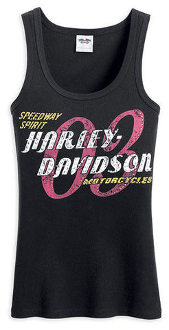 96374-13VW Harley-Davidson Speedway Spirit Black Tank Top Women