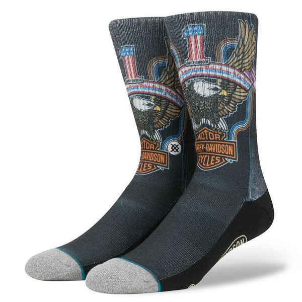 M556D16FRE-BLK H-D Freedom Machine Black Sock