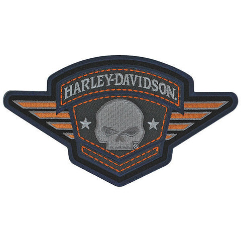EM093303 Harley-Davidson Skull Badge Emblem Patch