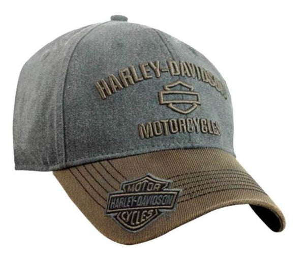 BCC51639-SD H-D Mens H-D B&S BHD Custom Pigment Dyed Brown Cotton Baseball Cap