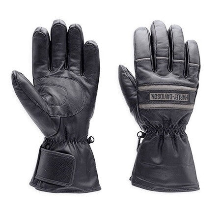 98213-13VM HD Mens Illumination 3M™ Scotchlite™ Reflective Gauntlet Black Leather Glove