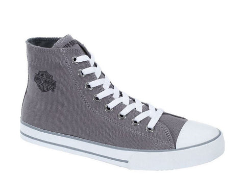 D83505 H-D Women's Flora 4.25'' Grey Canvas Sneakers