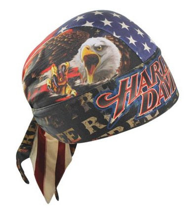 HW04184 H-D Ride Free American Flag Head Wrap Moisture Wicking