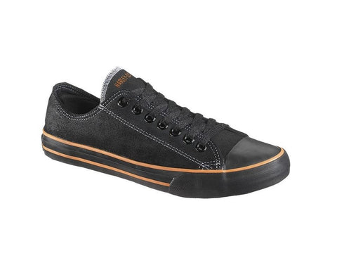 D83197 H-D Women's Zia Leather Lace-Up Black Sneakers