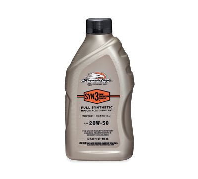 62600005 Quart Screamin' Eagle SYN3 Full Synthetic Motorcycle Lubricant- SAE 20W50