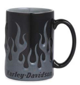 99399-13V Harley-Davidson® Chrome Sculpted Flame Mug