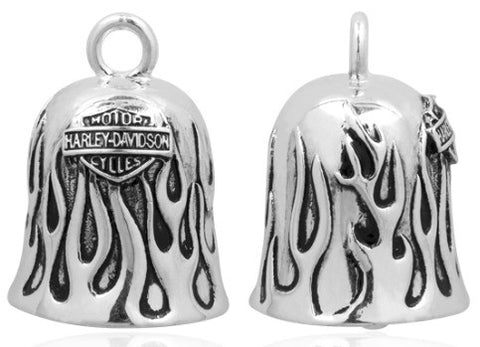 HRB031. HD Silver Flames Ride Bell