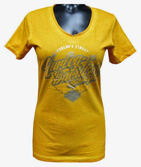 30293892 H-D® Women's V-Neck Tee - HD Lemon