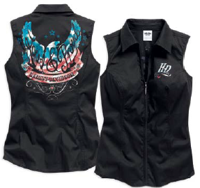 96036-15VW H-D® Loud & Proud Sleeveless Shirt, Womens, Black