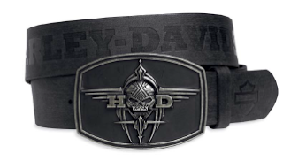 97694-15VM Men's Leather Belt with Tribal Buckle