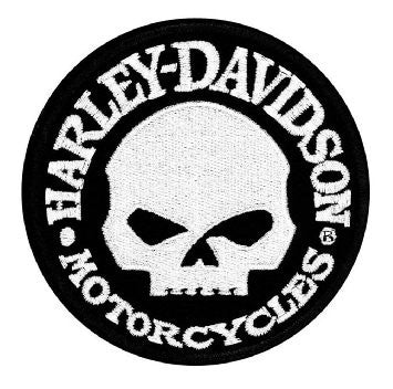EM1029882 Harley-Davidson Hubcap Skull Small Patch, 4'' W x 4'' H