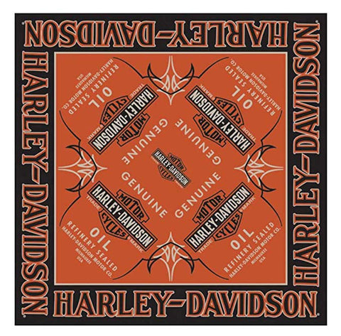 BA21264 Harley-Davidson® Men's Genuine Oil Bar & Shield Bandana, 24 x 24 inch