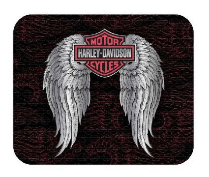 MO07291 Harley-Davidson Winged Bar & Shield Mouse Pad Black & Pink