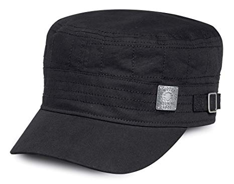 97892-18VW Harley-Davidson Women's Quilted Stitching Flat Top Cap, Black