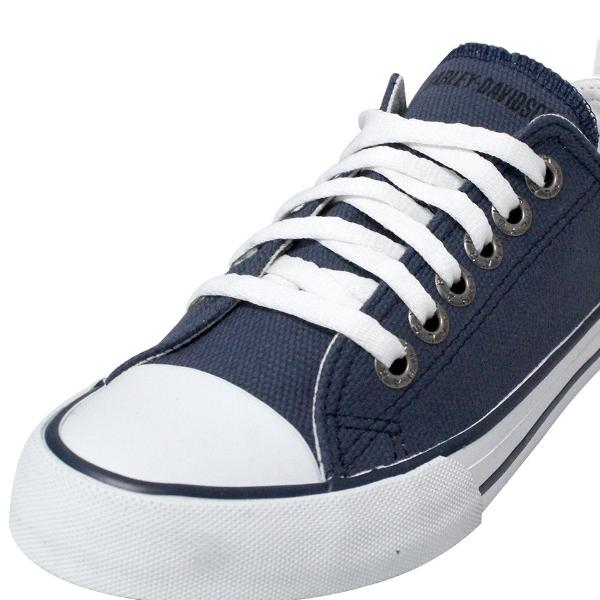 D83502 Harley-Davidson® Womens Zia Blue Canvas Casual Shoe