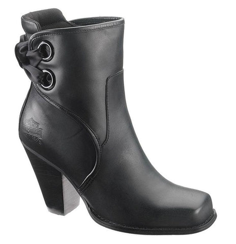 D83642 H-D® Women's Eve 5-Inch Black Leather Motorcycle Boots (50% off)