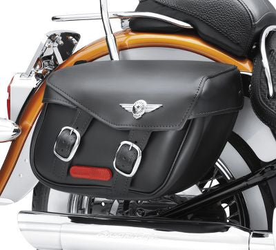 90320-00D H-D Softail Leather Saddlebags - Fat Boy Styling