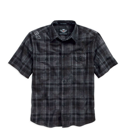 96019-16VM - H-D® Men's 1903 Cloud Wash SS Woven Shirt
