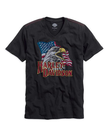 96052-15VM H-D® Eagle Flag V-Neck Tee
