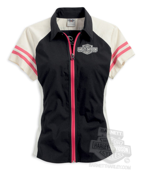 96112-14VW Harley-Davidson® Womens Passion, Drive, Freedom Winged B&S Zip