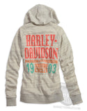96135-14VW  H-D® Women's Passion & Freedom Hoodie, Off-white Burnout