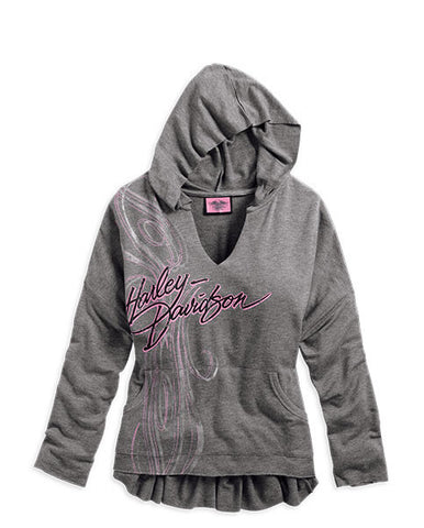 96224-14VW Harley-Davidson Women's Pink Label Pullover Hoodie