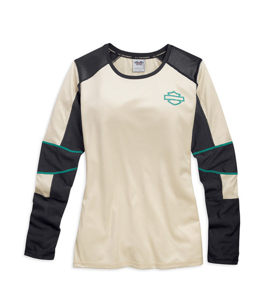 96350-15VW H-D® Women's Long Sleeve Performance Tee with Moisture-wicking Technology