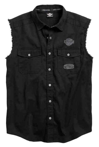 96414-17VM H-D Men's MC Skull Sleeveless Blowout Shirt