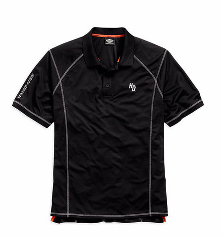 96460-15VM H-D Coldblack Protective Finish Performance Polo