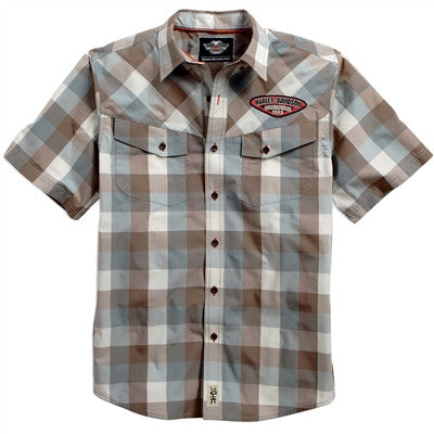 96470-15VM H-D® Ripstop Wicking Plaid Shirt
