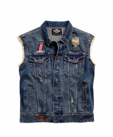 96476-15VM HD Vintage Denim Vest