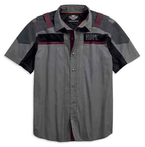 96478-18VM Harley-Davidson® Men's Performance Vented Short Sleeve Woven Shirt