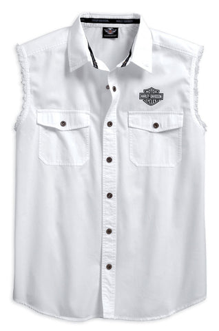 96611-17VM H-D Men's Live Free Sleeveless Blowout Shirt