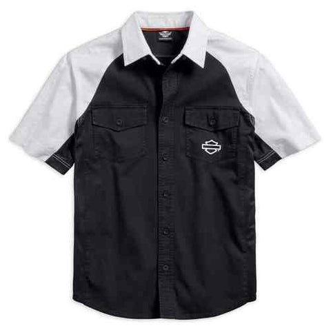 96621-17VM Harley-Davidson® Men's Performance Vented Contrast Woven Shirt
