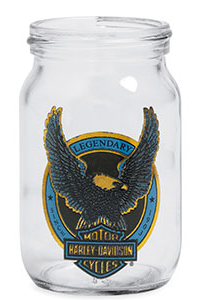 96871-16V Harley-Davidson® Eagle B&S Mason Jar 4 oz. Shot Glass
