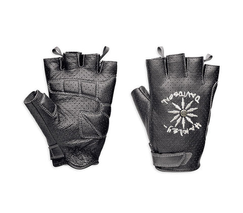 97313-15VM H-D® Women's LIMITED EDITION Burnin' Up Fingerless Gloves