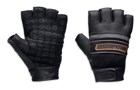 97369-13VM Harley-Davidson Men's Defender Fingerless Gloves with Reflective Panel