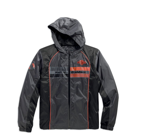 97576-16VM Harley-Davidson Mens Cortex Waterproof Mid-Layer Trademark B&S Logo Grey Casual Jacket