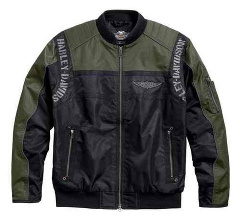 97586-17VM Harley-Davidson Men's Warwick Colorblocked Nylon Bomber Jacket