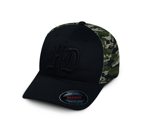 97604-17VM H-D Camo Colorblock Stretch Fit Cap