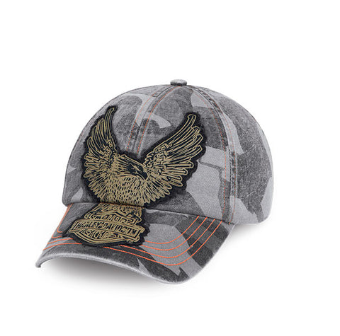 97611-16VM H-D Raw-Edge Eagle Camo Cap