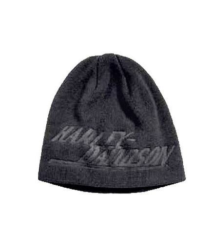 97613-17VM H-D Men's Debossed Graphic Knit Hat
