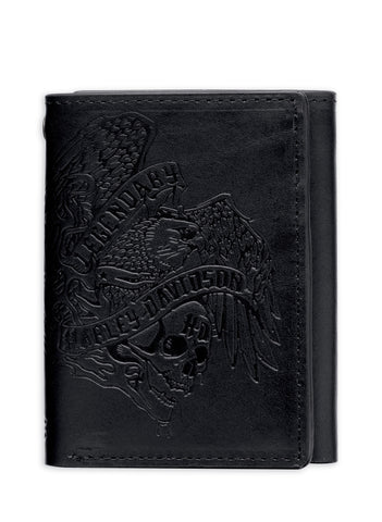 97634-16VM H-D Debossed Legendary Tri-Fold Wallet